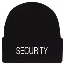 """Čepice pletená výšivka \""""SECURITY\"""" ČERNÁ"""