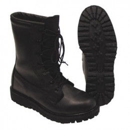 Boty US kožené zateplené ČERNÉ