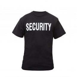 Triko s nápisem na hrudi SECURITY ČERNÉ