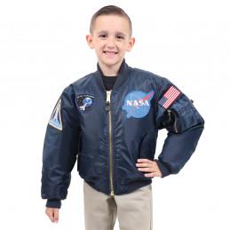 Bunda dětská bomber NASA MA1 FLIGHT MODRÁ