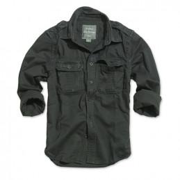 Košile RAW VINTAGE s dlouhým rukávem ČERNÁ