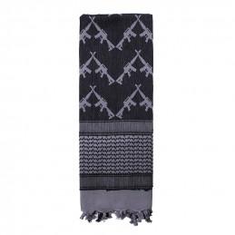 Šátek SHEMAGH CROSSED RIFLES 107 x 107 cm ŠEDÝ
