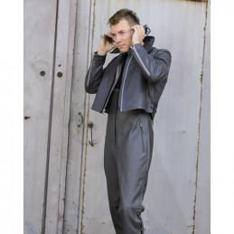 Kalhoty BW U-BOOT kožené ŠEDÉ použité