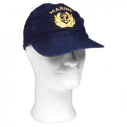 Čepice BW MARINE s žlut.emblemem MODRÁ použitá