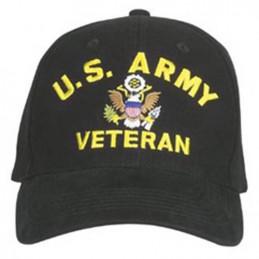 Čepice U.S. ARMY VETERAN baseball ČERNÁ