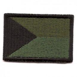 Nášivka ČR vlajka malá ZELENÁ (40mm)