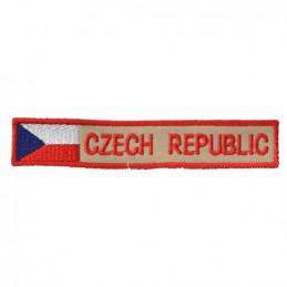 Nášivka CZECH REPUBLIC S VLAJKOU - BAREVNÁ