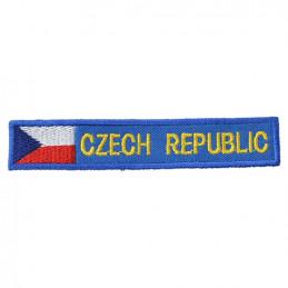 Nášivka CZECH REPUBLIC S VLAJKOU - MODRÁ