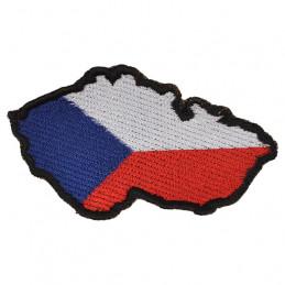 Nášivka MAPA ČR uvnitř stání vlajka - BAREVNÁ