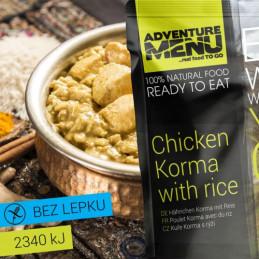 Kuře Korma s rýží - ADM sterilizované hotové jídlo