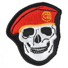 Nášivka LEBKA baret v barvě ČERVENÉ