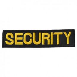 Nášivka SECURITY - ČERNÁ se žlutou nití