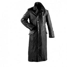 Kabát důstojnický kožený ČERNÝ