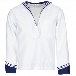 Košile ITALSKÁ námořnická BÍLÁ s MODRÝM límcem nová