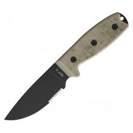 Nůž s pevnou čepelí RAT-3 s pouzdrem kombinované ostří