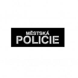 Nášivka MĚSTSKÁ POLICIE malá velcro ČERNÁ