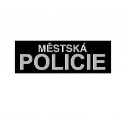 Nášivka MĚSTSKÁ POLICIE velká velcro ČERNÁ