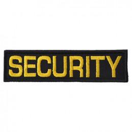 Nášivka SECURITY - ČERNÁ se žlutou nití VELCRO