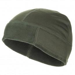 Čepice fleece extra teplá ZELENÁ