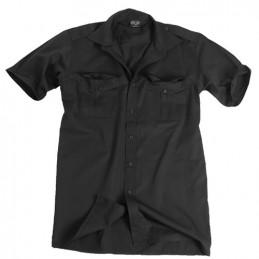 Košile SERVIS krátký rukáv na knoflíky ČERNÁ