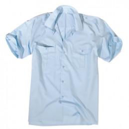 Košile SERVIS krátký rukáv na knoflíky SVĚTLE MODRÁ