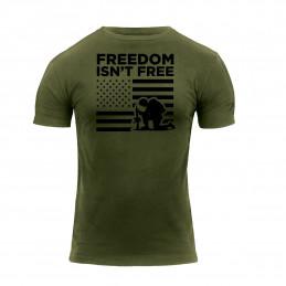 Triko FREEDOM ISN´T FREE krátký rukáv ZELENÉ