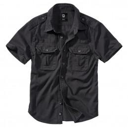 Košile styl VINTAGE krátký rukáv ČERNÁ