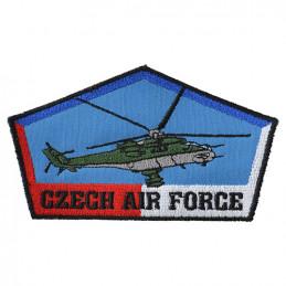 Nášivka CZECH AIR FORCE s vrtulníkem MI-24V - BAREVNÁ