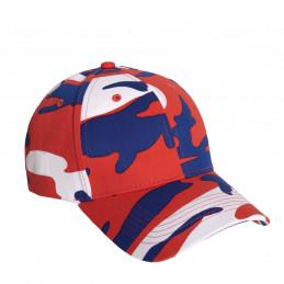 Čepice baseball Supreme Low Red / White / Blue Camo