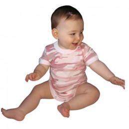 Body dětské BABY PINK CAMO