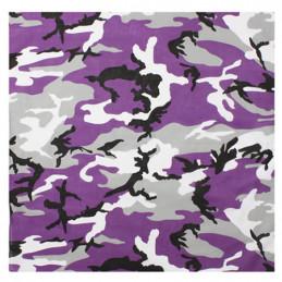 Šátek 55 x 55 cm fialové maskování ULTRA VIOLET CAMO