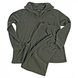 Spodní prádlo THERMOFLEECE se zipem ZELENÉ