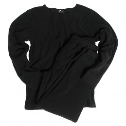 Spodní prádlo THERMOFLEECE bez límečku ČERNÉ