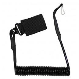 Kabel (telefonní) bezpečnostní ke zbrani ČERNÝ
