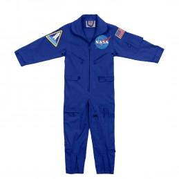 Kombinéza dětská NASA s nášivkami MODRÁ