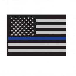 Samolepka USA vlajka s MODROU linkou