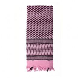 Šátek SHEMAGH 105 x 105 cm RŮŽOVO-ČERNÝ
