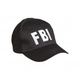 Čepice baseball s nápisem \'FBI\' ČERNÁ