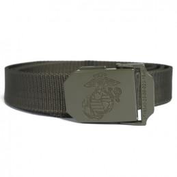 Opasek kalhotový USMC s kovovou sponou ZELENÝ