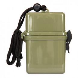 Krabička / box vodotěsná na krk 25x70x110 mm ZELENÁ