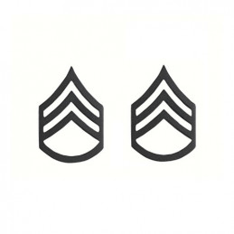 Odznak hodnosti STAFF SERGEANT SUBDUED ČERNÝ