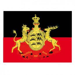 Vlajka WÜRTTEMBEGSKO s emblemem