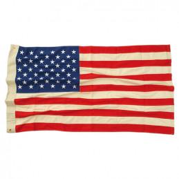 Vlajka USA 50 hvězd VINTAGE bavlna vyšívaná 90x150cm