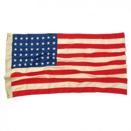Vlajka USA 48 WWII hvězd VINTAGE bavlna vyšívaná 90x150 cm