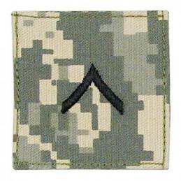 Nášivka hodnosti VELCRO PRIVATE ARMY ACU DIGITAL