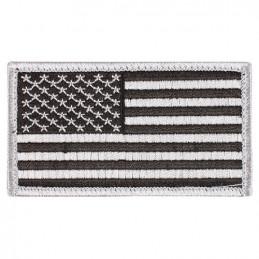 Nášivka US vlajka 4,5 x 8,5 cm ČERNÁ/STŘÍBRNÁ