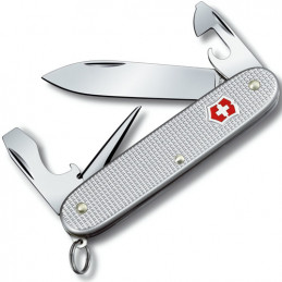 Nůž kapesní PIONEER 91mm ALOXSILVER s kroužkem