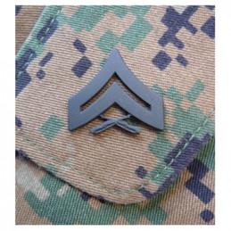 Odznak hodnostní USMC - Cpl. - ČERNÝ pár