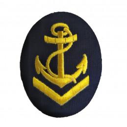 Nášivka námořních jednotek NVA ovál s kotvou a lanem + V