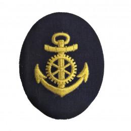 Nášivka námořních jednotek NVA ovál s kotvou a kormidlem